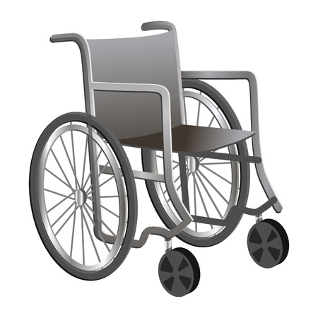 Wheelchair icon. Cartoon of wheelchair icon for web design isolated on white background