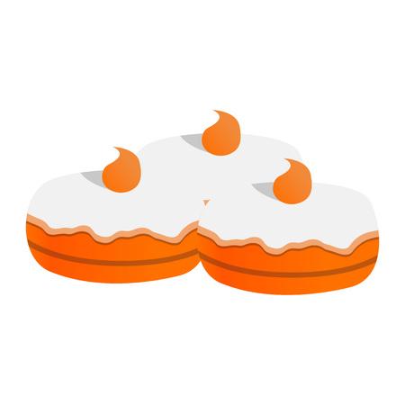 Sweet jewish bakery icon. Cartoon of sweet jewish bakery icon for web design isolated on white background Stockfoto