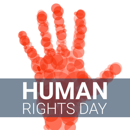Global human rights day concept background. Cartoon illustration of global human rights day concept background for web design