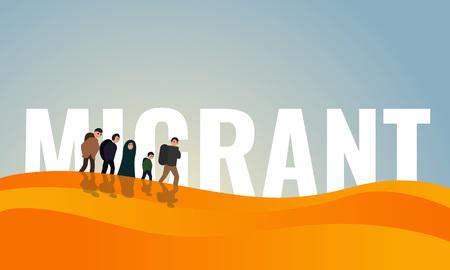 Dessert migrant day concept banner. Cartoon illustration of dessert migrant day concept banner for web design Stock Photo