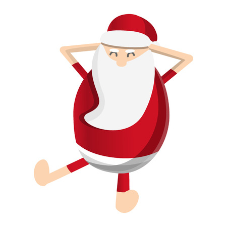 Santa claus relax icon. Cartoon of santa claus relax icon for web design isolated on white background