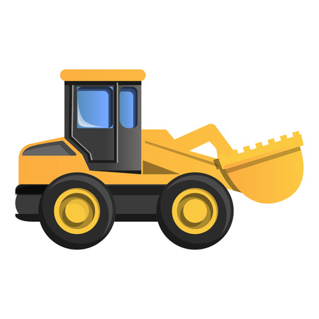 Wheel excavator icon. Cartoon of wheel excavator icon for web design isolated on white background