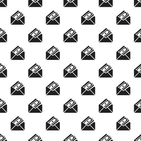 Money envelope pattern seamless repeat background for any web design