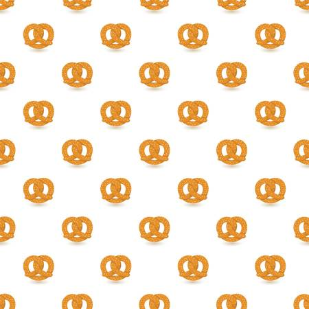 Pretzel pattern seamless repeat background for any web design