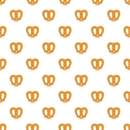 Salt pretzel pattern seamless repeat background for any web design