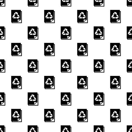 Recycle paper pattern seamless vector repeat for any web design