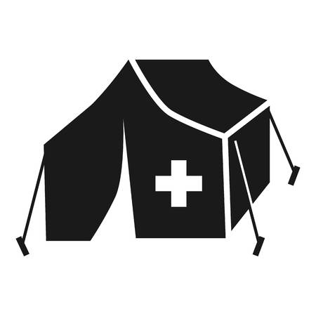 Migrant help tent icon. Simple illustration of migrant help tent vector icon for web design isolated on white background