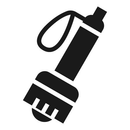 Climb flashlight icon. Simple illustration of climb flashlight vector icon for web design isolated on white background