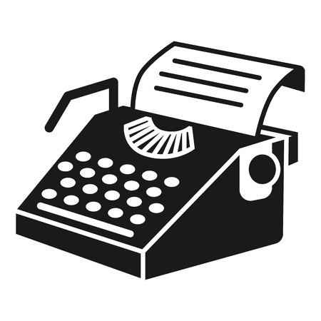 Icône de machine à écrire en papier. Simple illustration de l'icône vecteur machine à écrire papier pour la conception web isolé sur fond blanc