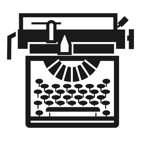 Typewriter classic icon. Simple illustration of typewriter classic vector icon for web design isolated on white background Banco de Imagens - 127729512
