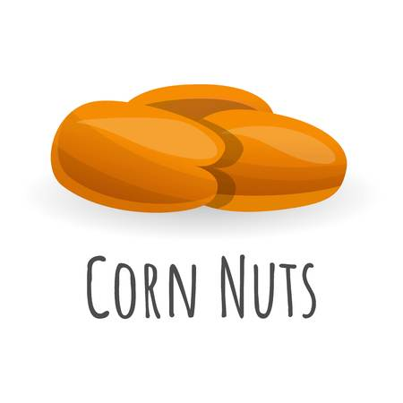 Corn nuts icon. Cartoon of corn nuts vector icon for web design isolated on white background