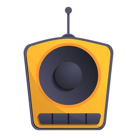 One speaker radio icon. Cartoon of one speaker radio vector icon for web design isolated on white background