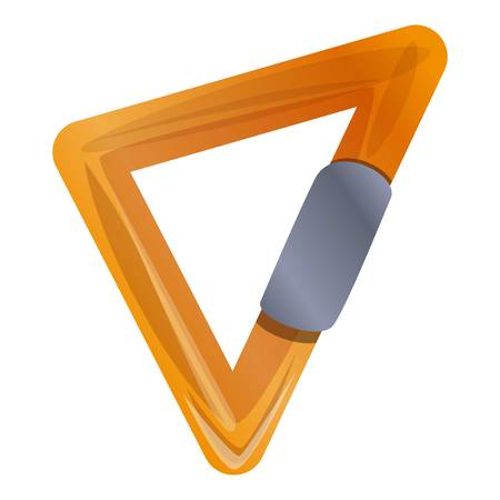 Triangular carabine icon. Cartoon of triangular carabine vector icon for web design isolated on white background Vettoriali