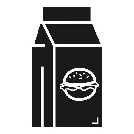 Fast food lunchbox icon. Simple illustration of fast food lunchbox vector icon for web design isolated on white background