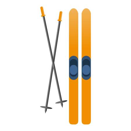 Ski equipment icon. Cartoon of ski equipment vector icon for web design isolated on white background