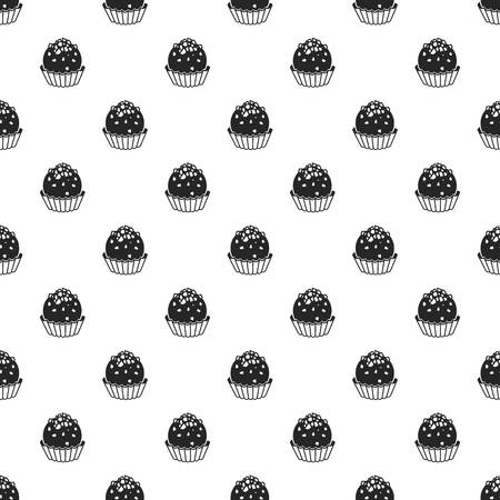 Truffle pattern seamless repeat background for any web design