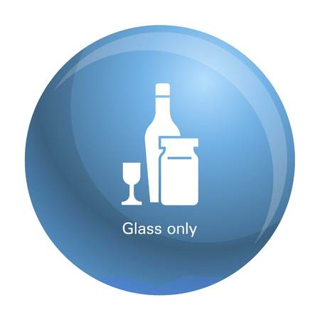 Wine glass bottle icon. Simple illustration of wine glass bottle vector icon for web design isolated on white background