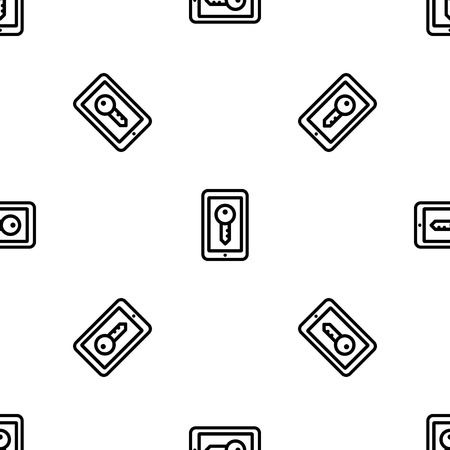Smartphone lock pattern seamless vector repeat for any web design Illustration