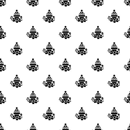 House door pattern seamless vector repeat for any web design