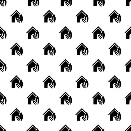 Eco house pattern seamless vector repeat for any web design
