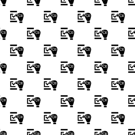 Check mark pattern seamless vector repeat for any web design 版權商用圖片 - 112099995