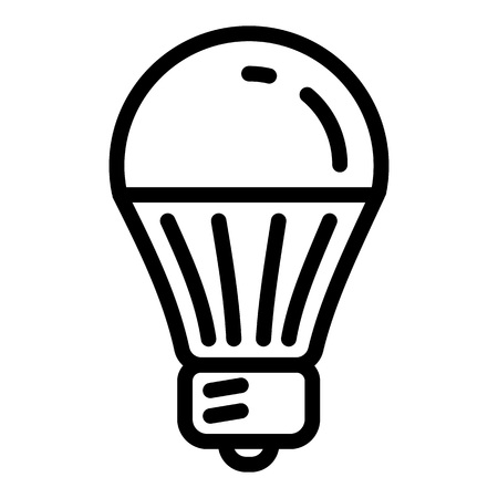 Save energy bulb icon. Outline save energy bulb icon for web design isolated on white background