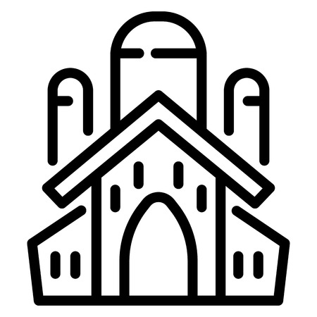 Jewish church icon. Outline jewish church icon for web design isolated on white background