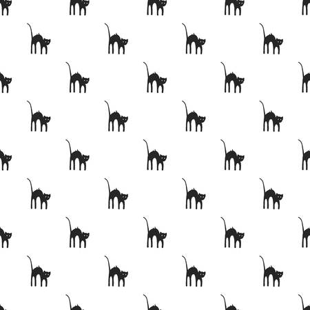 Scary cat pattern seamless repeat background for any web design