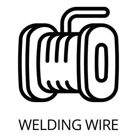 Icono de alambre de soldadura. Esquema de alambre de soldadura icono vectoriales para diseño web aislado sobre fondo blanco. Ilustración de vector