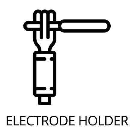 Electrode hand holder icon. Outline electrode hand holder vector icon for web design isolated on white background