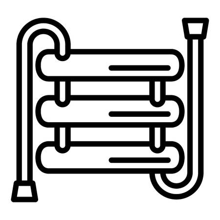 Heater pipe icon. Outline heater pipe vector icon for web design isolated on white background