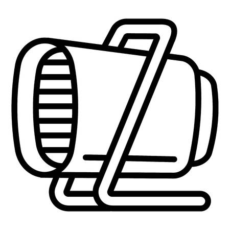 Commercial heater icon. Outline commercial heater vector icon for web design isolated on white background