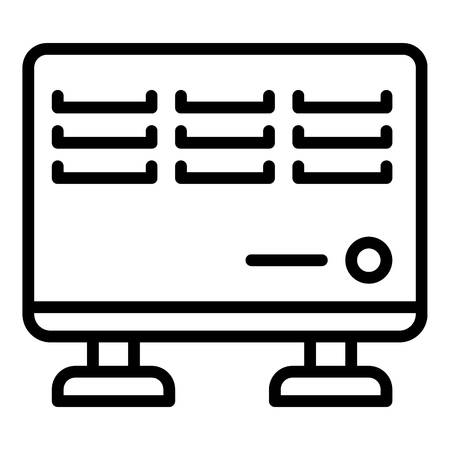 Room metal heater icon. Outline room metal heater vector icon for web design isolated on white background