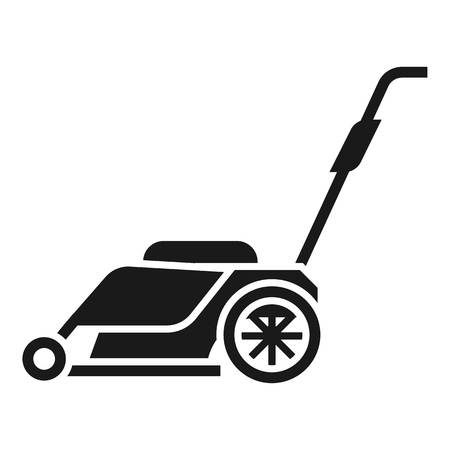 Modern lawnmower icon. Simple illustration of modern lawnmower vector icon for web design isolated on white background