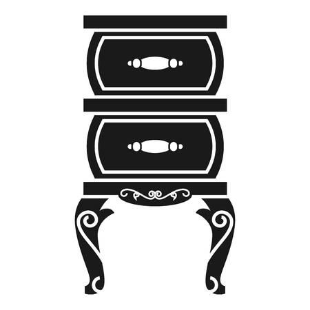 Vintage nightstand icon. Simple illustration of vintage nightstand vector icon for web design isolated on white background