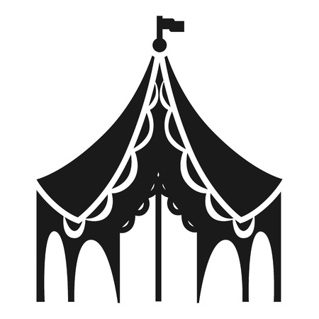 Festival tent icon. Simple illustration of festival tent vector icon for web design isolated on white background