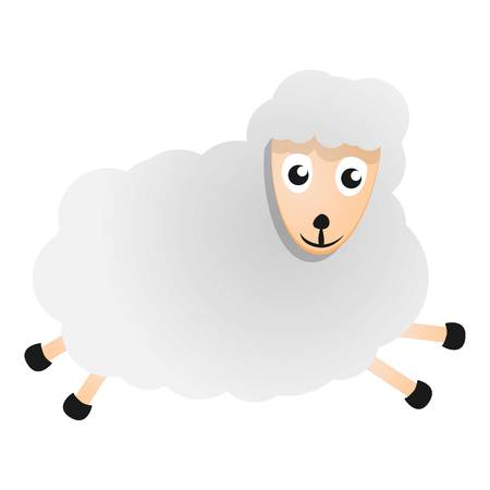 Running sheep icon. Cartoon of running sheep vector icon for web design isolated on white background 写真素材 - 127502176