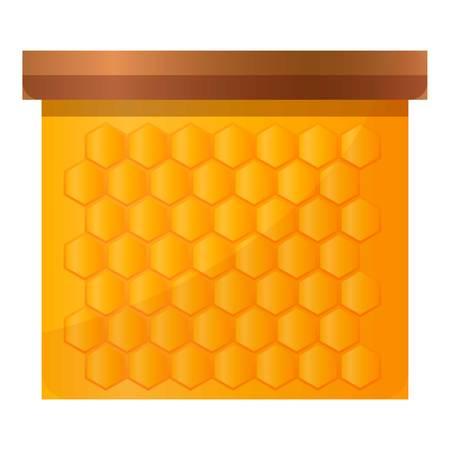 Honey frame icon. Cartoon of honey frame vector icon for web design isolated on white background