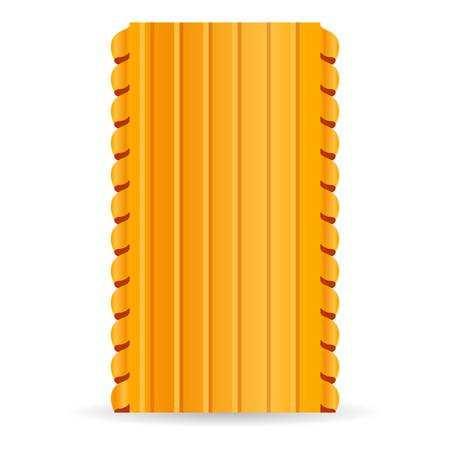 Lasagne pasta icon. Cartoon of lasagne pasta vector icon for web design isolated on white background  イラスト・ベクター素材