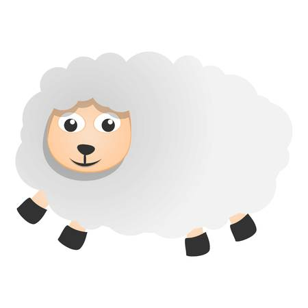 Cute sheep icon. Cartoon of cute sheep vector icon for web design isolated on white background