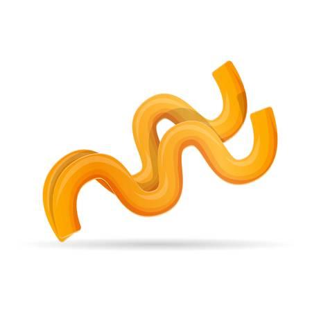 Fussili pasta icon. Cartoon of fussili pasta vector icon for web design isolated on white background