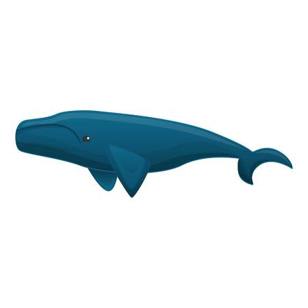 Blue whale icon. Cartoon of blue whale vector icon for web design isolated on white background