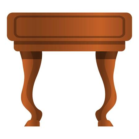 Vintage nightstand icon. Cartoon of vintage nightstand vector icon for web design isolated on white background Ilustracja