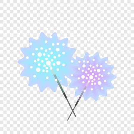 Bengal light stick icon. Flat illustration of bengal light stick vector icon for web design