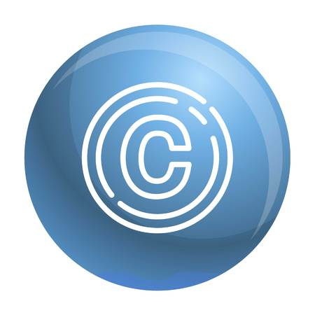Copyright sign icon. Outline copyright sign vector icon for web design isolated on white background Illusztráció