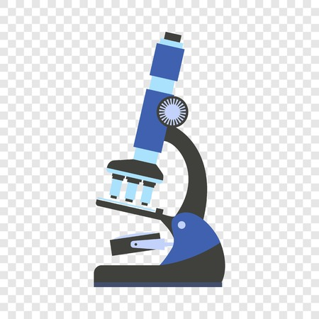 Microscope icon. Flat illustration of microscope vector icon for web design Vettoriali