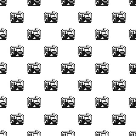 Mix lunchbox pattern seamless vector repeat for any web design Vettoriali