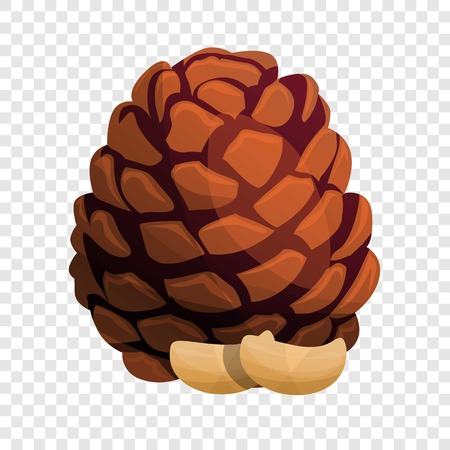 Tree pine nut icon. Cartoon of tree pine nut vector icon for web design