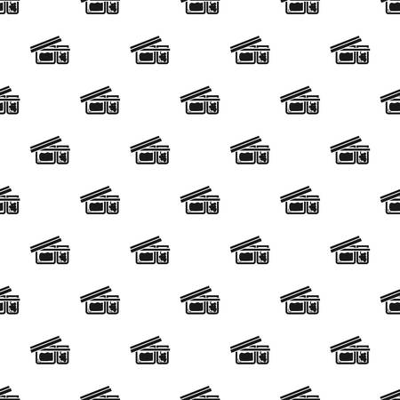 Open lunchbox pattern seamless vector repeat for any web design
