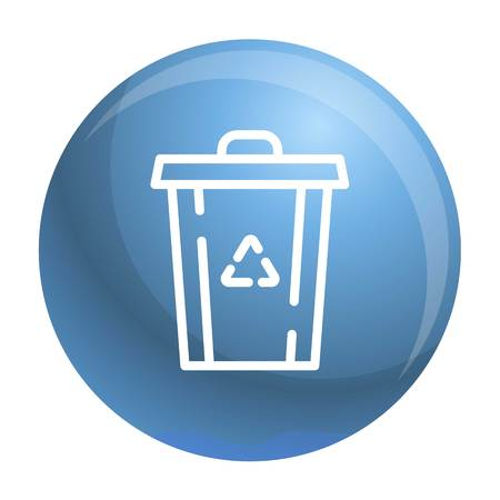 Recycle garbage bin icon. Outline recycle garbage bin vector icon for web design isolated on white background Illustration